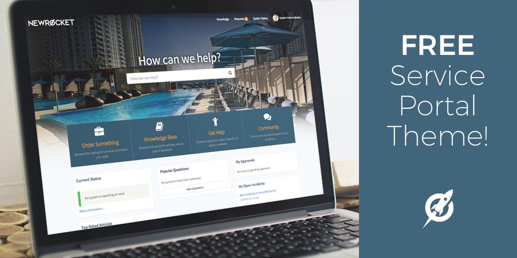 Free Service Portal Theme