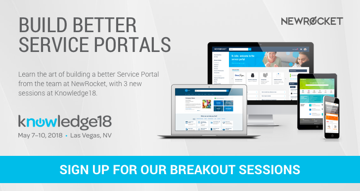 Knowledge18 Service Portal Sessions