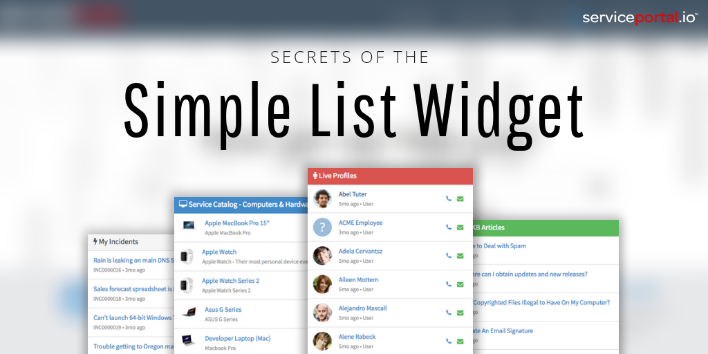 Secrets Of The Simple List Widget