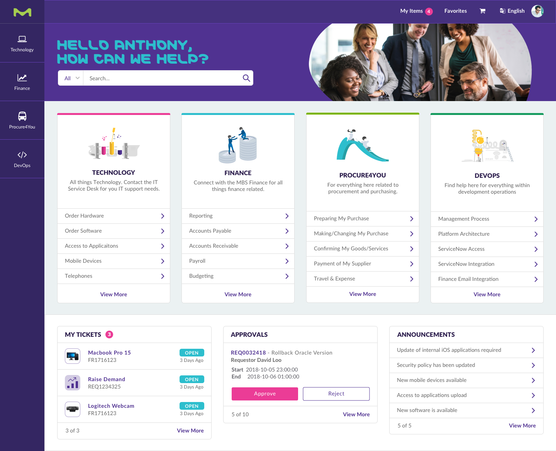 Merck service portal
